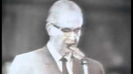 Ezra Taft Benson speaks at the Assembly Hall at Temple Square, Feb 11, 1966